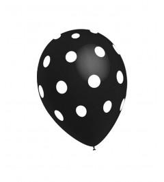 Globo Lunares Negro (5 Uds)