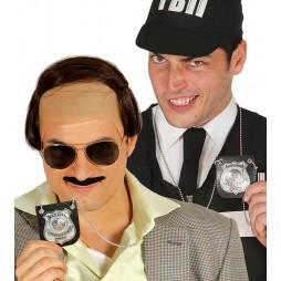 PLACA POLICIA COLGANTE ACCESORIO CARNAVAL