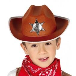 SOMBRERO SHERIFF INFANTIL CON ESTRELLA