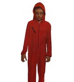 Disfraz Atracador Infantil Mono Rojo Unisex