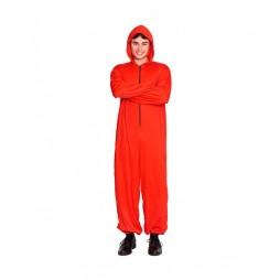 Disfraz Atracador Mono Rojo Unisex