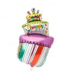 Globo Tarta de Cumpleaños Foil