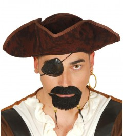 GORRO MARRÓN PIRATA